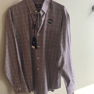 NWT IZOD men's button down shirt Med